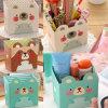 Caja linda de almacenaje del tablero de papel de la caja DIY del maquillaje del escritorio de los efectos de escritorio cosméticos del organizador