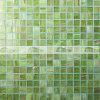 Melt выскальзования смешивания 20X20mm мозаика бассеина зеленого анти- горячего стеклянная (BGE002)