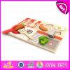 Brinquedo de madeira colorido da cozinha do projeto 2015 novo, jogo do jogo da cozinha, cozinhando o brinquedo da cozinha do brinquedo, brinquedo ajustado W10b119 da cozinha de madeira das meninas do brinquedo do bebê