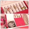 Moderne PU Leather Pearl Silver Paper Jewelry Box mit Insert