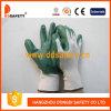 Перчатки Dnn331 зеленой раковины нитрила Coated Nylon работая