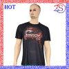 T-shirt de bonne qualité d'hommes de sublimation de vêtements de sport faits sur commande avec le collet rond