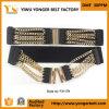 Пояс эластика Womans новой цепи металла конструкций декоративный черный широкий