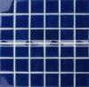 плитка мозаики бассеина 48X48mm синяя застекленная Carckle керамическая (BCK658)
