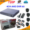 4 canal Ahd DVR Kit con 720p Dome Camera