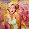Art Supplies Canvas Bulk Canvas Painted Image Sex Women Canvas Oil Painting Marilyn Monroe with Inner Picture Frames for Home