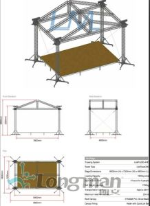 Six Pillar Truss with Circle Roof, Aluminum Roof Truss System pictures & photos