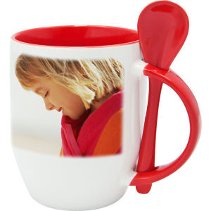 Promotional Ceramic Spoon Mug with Logo Customized pictures & photos