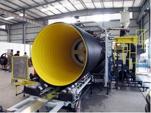 PE Double-Wall Corrugated Pipe Production Line