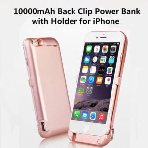 10000mAh Two-USB Back Clip Power Bank Slim Battery Case with Holder for iPhone 6p/6sp/7p pictures & photos