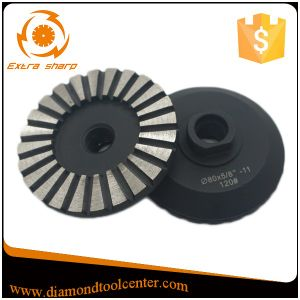 "3 Inch 5/8""-11 Thread Diamond Segment Concrete Grinding Disc pictures & photos"