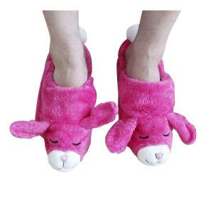 Hot Cold Ice Gel Pack for Pain Relief Beneficial to Human Body Health Animal Rabbit Toy Slipper (P20106-p)