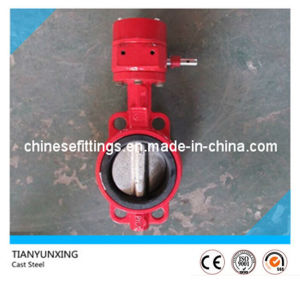 Hand Wheel Stainless Steel Disc Wafer Cast Steel Butterfly Valve pictures & photos
