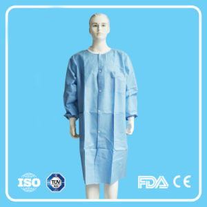 2016 Disposable PP Non Woven Lab Coat with Elastic Cuffs pictures & photos