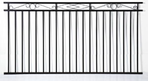 Residential Used Aluminum Black Fence Section pictures & photos