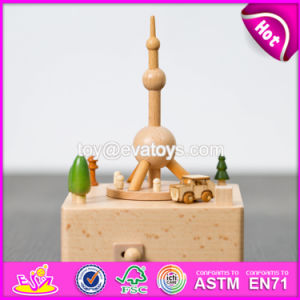 Customize Children Cartoon Toys Wooden Modern Music Box W07b052 pictures & photos