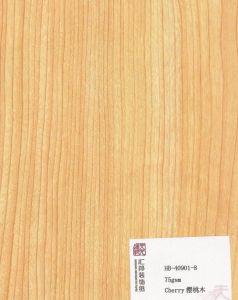 Cherry Laminated Flooring Paper (HB-40901-8) pictures & photos