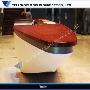TW Modern Style Elegant Boat Design Corian Reception Counter Top/ Parlour Front Desk (TW-MART-263) pictures & photos