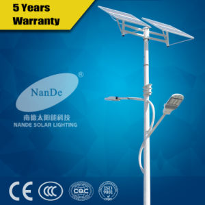High Quality Double Arms Solar LED Street Light pictures & photos