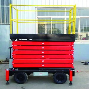 Hydraulic Motor Mobile Scissor Lift for Working Outdoor (11m) pictures & photos