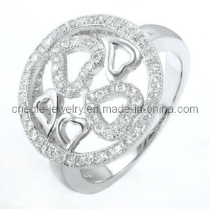 Fashion Heart Ring/CZ Ring/Fashion Jewelry