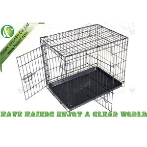 New Designed Foldable Dog Crate with High Quality ABS Tray (DSA36)