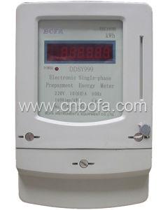 Single Phase Prepaid Energy Meter Type (DDSY999)