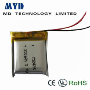 350mAh Li-Polymer Battery with 3.7V
