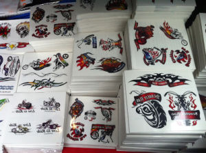 Promotional Custom Logo Printed Non-Toxic Temporary Colorful Tattoo Sticker pictures & photos