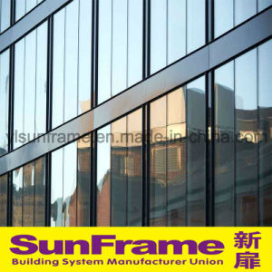 Aluminium Glazing Curtain Wall System With Semi Exposed Frame