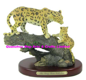 Polyresin Jaguar of Cub Figurine Decor pictures & photos