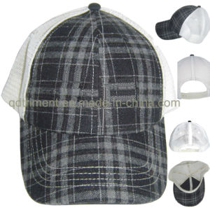 Tarton Plaid Snap Buckle Leisure Mesh Truckern Cap (TMT02782) pictures & photos