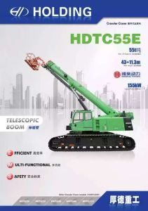 55ton Telescopic Boom Crawler Crane with Aerial Working Platform