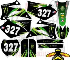 Custom Printing Motorcycle Decoration Adhesive Sticker pictures & photos