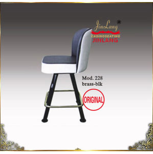Casino Chair (No 228 Brass Frame-Blk and White)