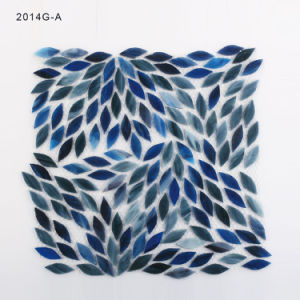 Leaf Shape Blue Art Stained Glass Mosaic pictures & photos