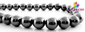 8mm Round Beads Nonmagnetic Hematite
