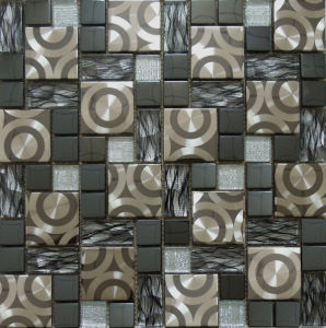 Glass Mosaic Tile/Stainless Steel Metal Mosaic (SM231) pictures & photos