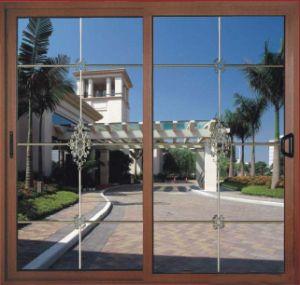 Wooden Color Aluminum Sliding Window (pH-6601) pictures & photos