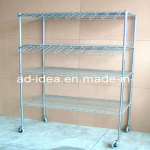 Packaged Goods Shelf Display Rack/Exhibition for Goods Promotion with Caster pictures & photos