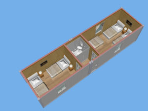 20ft/40ft Prefab Container Hotel with Bathroom, Prefab Hotel Container pictures & photos