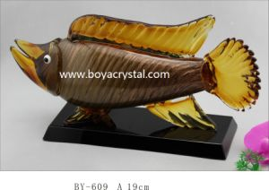 Energetic Fish Glass Trophy for Home Decoration and Gifts (BY-609)