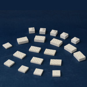 Alumina Ceramic Rectangle Tiles with Dimples for Conveying Pulley Laggings pictures & photos