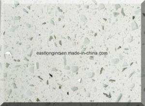 Sparkle White Single Color Quartz Stone Slab for Building Material pictures & photos