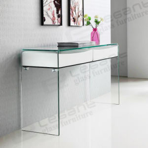 China modern glass console table mdf drawer console table s020 w china gla - Console en verre ikea ...