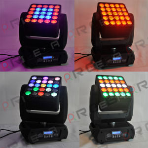 2017 New High Quality Stage 25LEDs 12W RGBW 4in1 Wash LED Moving Head Light pictures & photos