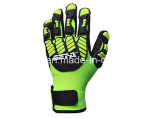 Hi-Vis Yellow Anti-Impact Work Glove with TPR (TPR9003) pictures & photos