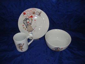 Porcelain Children Dinnerware, Ceramic Tableware Set (JC5CH010)