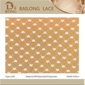 Nylon/Spandex Allover Lace Fabric for Garment
