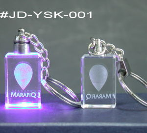 Crystal Crafts LED Engraving Crystal Key Chain (JD-YSK-001) pictures & photos